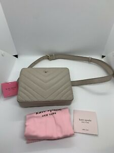 NEW AUTHENTIC KATE SPADE TUSK QUILTED LEATHER SMALL CAMERA BELT BAG #PXRUA310