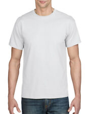 WHITE MENS DRYBLEND CREW NECK T-SHIRT - Gildan Poly/Cotton Plain T SHIRT