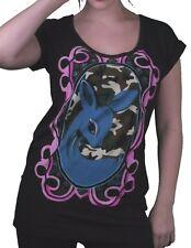 Iron Fist Women's Candy Fawn Baby Deer Boyfriend Black T-Shirt Medium NWT