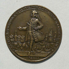 EDWARD VERNON NAVAL OFFICER ASSAULT OF CARTAGENA  1741 BRONZE MEDAL