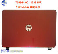 760964-001 NEW HP 15G 15-R030WM LCD Back Cover  Flyer FF Red Color