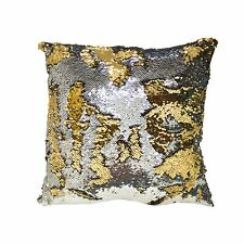 Mermaid Throw Pillow Reversible Colorful Sequin Cushion Comfortable Fill