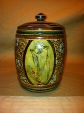 Antique Doulton Lambeth Tobacco Jar Circa.1891 Monk Scene