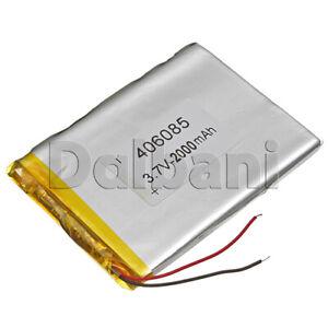 406085, Internal Lithium Polymer Battery 3.7V 2000mAh 40x65x85mm