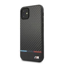 BMW iPhone 11 Pro Max M Kollektion Carbon / Leder Hülle Case Cover Schwarz