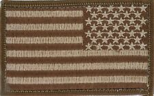 U.S.A. uniform battle flag patch (Brown) Pack of 3