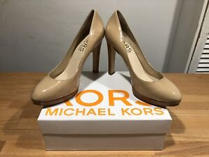 MICHAEL KORS Julian Nude Patent Leather High Heels! UK8! Used! Only £59,90!!!