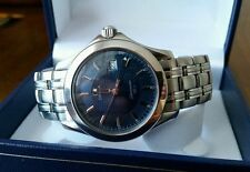 Omega Seamaster Stainless Steel Band Round Wristwatches
