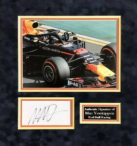 MAX VERSTAPPEN AUTHENTIC SIGNED F1 MOUNTED DISPLAY AFTAL#198