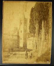 Photography 19th Italy Asciano Abbazia Di Riding Oliveto Maggiore c1880 Alinari