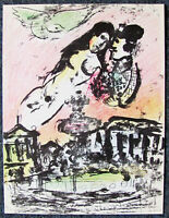 CHAGALL - PLACE DE LA CONCORD - ORIGINAL LITHOGRAPH - 1963 - FREE SHIP IN US!