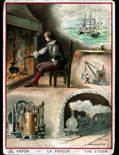 IMAGE CHROMO / METIER SCIENCES / VAPEUR / MECANIQUE & TRAIN