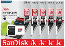 5 Pack SanDisk 128GB microSDXC Ultra 100MB/s A1 C10 U1 SDXC 128G SDSQUAR-128G