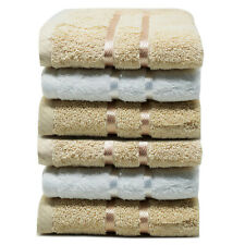 Towelogy® 100% Cotton Face Towels 600gsm Flannels Wash Cloths Absorbent 30x30cm