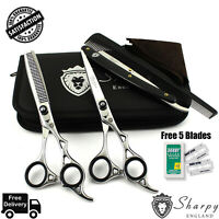 Professional Barber Hairdressing Scissors _Thinning Hair Cutting Shears Set 6.5""