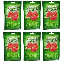 6 PACK Halls Defense Vitamin C Supplement Drops, Watermelon 30CT 312546631588DT
