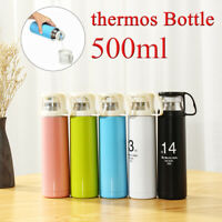 500ML Vacuum thermos Bottle Stainless Steel Insulated Flask Tea Mug Coffee Cup