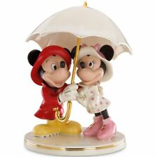 Lenox Disney Mickey Minnie Singing in the Rain Figurine