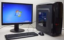 "GAMING PC SET 22"" MONITOR QUAD  i5 2nd. Gen. 8GB 1TB 4GB GDDR5 GTX 1050 WIN 7 R"