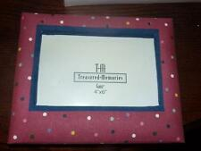 tm treasured memories picture frame nib 4x6 material DORM ROOM GIFT POLKA DOTS