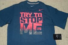 New Boy's Nike blue Try To Stop Me  t-shirt size L