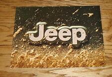 Original 2002 Jeep Full Line Foldout Sales Brochure 02 Liberty Wrangler