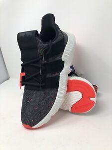 Mens Adidas Prophere Originals Black Solar Red CQ3022 Ortholite Size 10.5 NWT