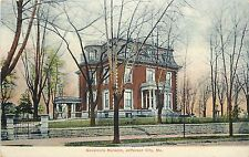 Vintage Postcard Governors Mansion Jefferson City MO Ashtabula County
