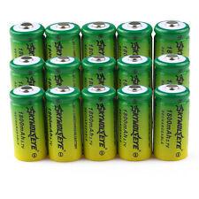 20pcs SKYWOLFEYE 16340 CR123A LR123A 3.7V 1800mAh Rechargeable Li-Ion Battery