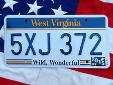 WEST VIRGINIA license licence plate plates USA NUMBER AMERICAN REGISTRATION