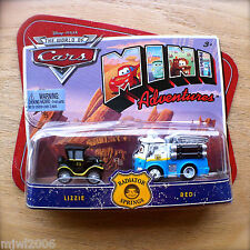 Disney PIXAR World of Cars MINI ADVENTURES Radiator Springs LIZZIE & RED 2-pack