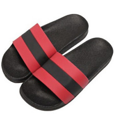 Red Black Slippers Jelly Non-Slip Sandals - Size 39
