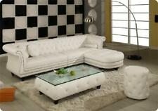 Luxus DESIGNER Chesterfield Sofa Ledersofa Ecksofa Couch Garnitur Polster A953