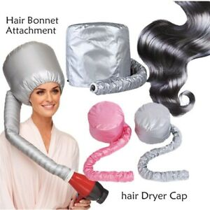 Soft Hair Perm Hair Drying Cap Portable Bonnet Hood Hat Blow Dryer Attachment