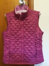 Girl's Ll Bean Goose Fuchsia Snow Puffer Vest Zip Pockets L 14-16
