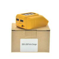 Per DEWALT Batteria DCB090 14,4 V 18 V 20 V Li-Ion USB Charger Adapter