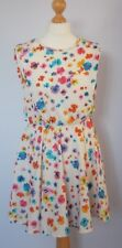 Atmosphere Cream Skater Dress With Blue/Purple/Orange/Red Floral Design Size 10