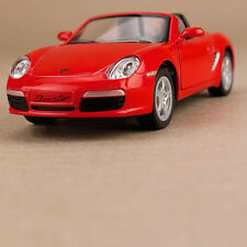 2006 Porsche Red Die-Cast 1:34 Scale Model Car Blue Pull-Back Opening Doors