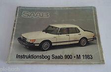 Instruktionsbog Betriebsanleitung Saab 900 / Turbo, Modelle / Modellen 1983