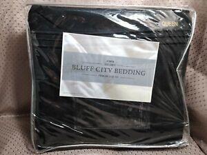Bluff City Bedding Queen Size 1800 Series Sheet Set Black
