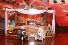 Disney Pixar Cars Wedding Day Lizzie and Stanley Diecast Time Travel Mater