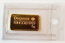 DEGUSSA 5 gr Goldbarren