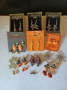 Halloween earrings. 17 in total. Some NWT. 16 pierced 1clip on.
