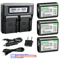 Kastar Battery LCD Dual Fast Charger for Sony NP-FW50 ILCE-7M2 Alpha 7 II a7 II