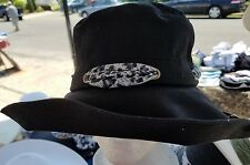 Ladies Cloth Sunhat With Shapeable Wire Brim and Leopard Scarf
