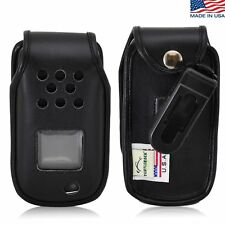 Turtleback Samsung Rugby 4 Fitted Black Leather Phone Case, Ratcheting Belt Clip