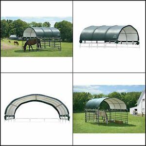 Corral Shelter Canopy 12ft x12ft Portable Outdoor Garden Livestock Animal Shade