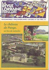 la revue populaire lorraine -numero 166 - juin 2002