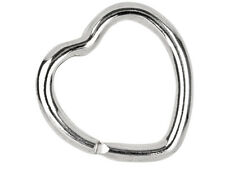 Solid Sterling Silver 925 Heart Key Ring Split Loop  30mm & Pouch A Perfect Gift