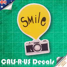 HOLIDAY Smile for the Camera Photography Luggage Sticker Car Skateboard Guitar